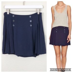 Free People Lovers Lane pleated skirt size 8
